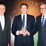 Adam Key, Equity Capital Markets Head for Middle East and North Africa, receiving the award