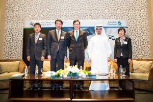 (Left to right): Chen Lixin, Chief Representative of SANY, UAE, Benjamin Hung, CEO of Standard Chartered Bank (Hong Kong) Limited, Norman Chan, Chief Executive of the Hong Kong, HE Hamad Buamim, Director General, Dubai Chamber of Commerce and Yingli Huo, Senior Advisor, Hong Kong Monetary Authority