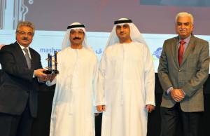 (L to R) Deepak Babani, CEO, Eros Group, His Excellency Sultan Ahmed bin Sulayem, Chairman, DP World, Eng. Mahmood Al Bastaki, CEO, Dubai Trade and Niranjan Gidwani, Deputy CEO, Eros Group.