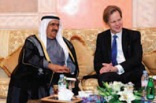 Sheikh Hamdan with Gottfried Leibbrandt