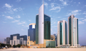 The towers in the West Bay commercial district of Doha, Qatar
