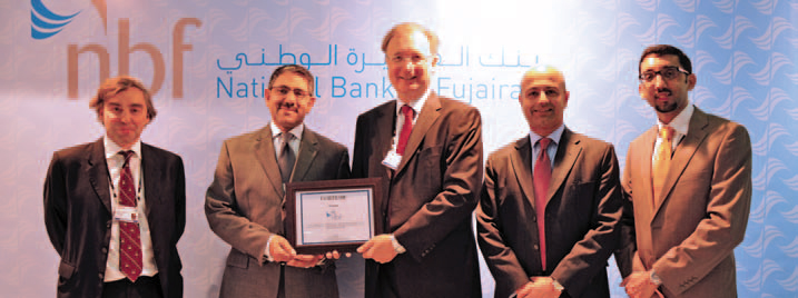 Left to Right: Mark Zanelli, Head – Treasury, Hani Al Maskati, Editorial Director – Cash & Trade Magazine, Vince Cook, CEO, Vikram Pradhan, Head – Corporate & Institutional Banking, and Syed Ali Mohsin, Financial Institutions.