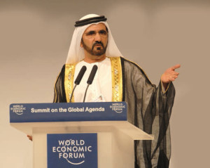 Sheikh Mohamed bin Rashid, Ruler of Dubai, who has always been prominent in economic and financial affairs