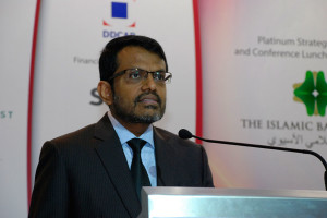 H.E. Ravi Menon, Governor, Monetary Authority of Singapore delivering the inaugural keynote speech at WIBC Asia 2014
