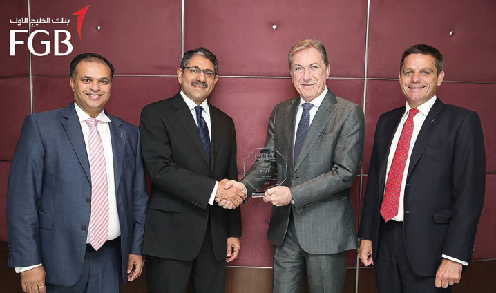 Left to right: Manoj Menon, Head of Global Transaction Services & Financial Institutions, Hani AlMaskati, CMM Managing Director, Andre Sayegh, CEO, Simon Penney, Head of Wholesale Banking Group