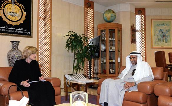 Dr Ali and UK Economic Secretary to the Treasury Andrea Leadsom