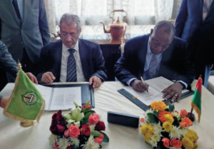 Dr Waleed Al-Wohaib, CEO, ITFC and Jean Paul G. Sawadogo, Manging Director Sofitex
