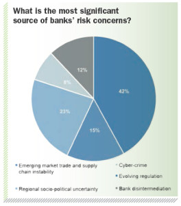 What is the most significant source of banks' risk concerns?